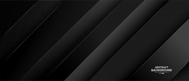 Bannière sombre élégante