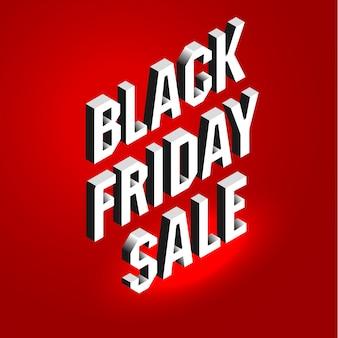 Bannière sombre pour la vente du vendredi noir.