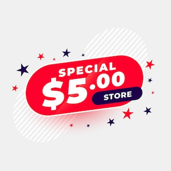 Bannière spéciale de magasin à un dollar