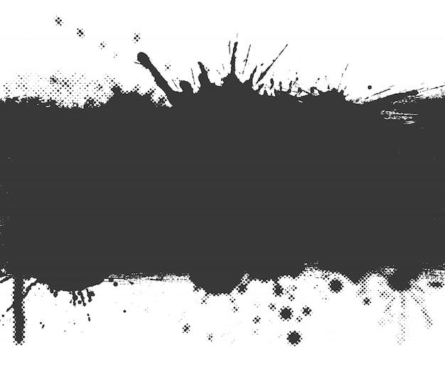 Bannière splash grunge