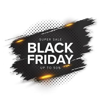 Bannière splash vendredi noir moderne