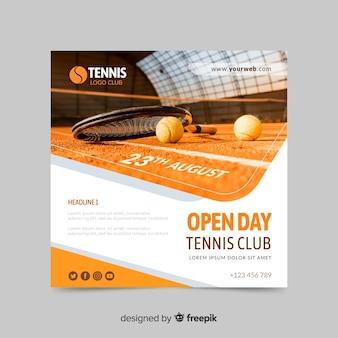 Bannière de sport club de tennis