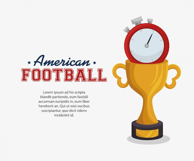 Bannière de sport de football américain