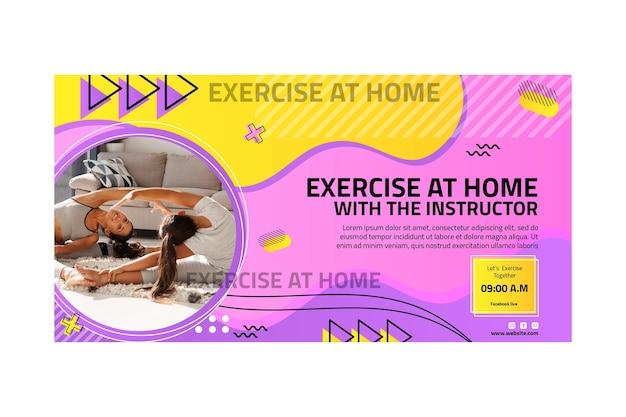 Bannière de sport à la maison