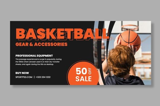 Bannière Sport Et Technologie Vecteur gratuit