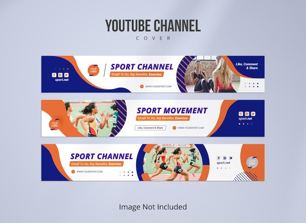 Bannière sportive pour chaîne youtube