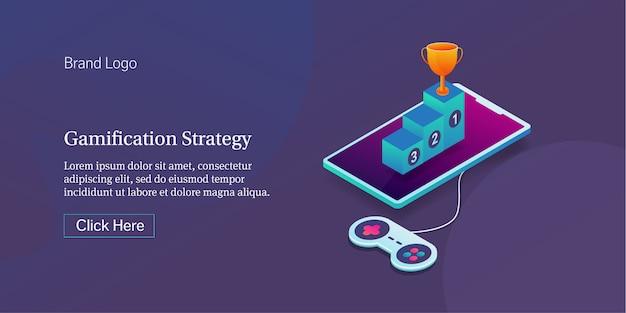 Bannière de stratégie de gamification