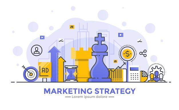 Bannière de stratégie marketing