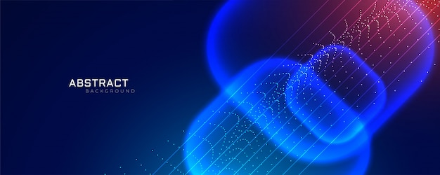 Bannière de style technologique futuriste avec effet de particule