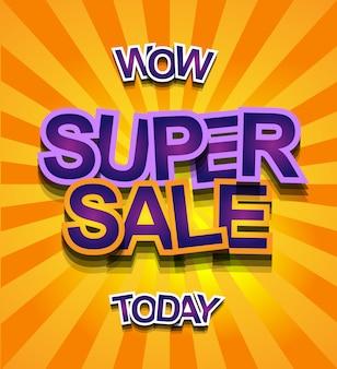 Bannière super sale today