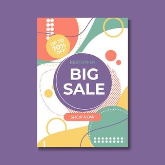 Bannière de super vente, design coloré et ludique. illustration vectorielle