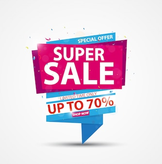 Bannière Super vente et design de la meilleure offre