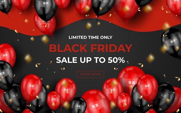 Bannière de super vente vendredi noir moderne