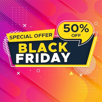 Bannière de super vente vendredi noir