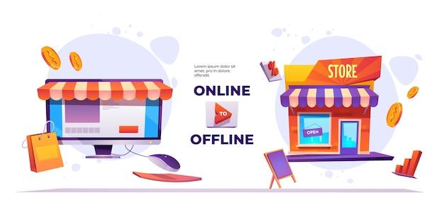 Bannière de système en ligne à hors ligne