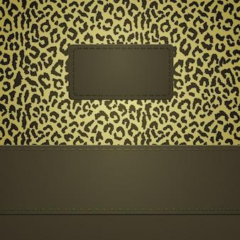 Bannière avec des taches de léopard. l'arrière-plan peut être utilisé comme modèle sans couture.