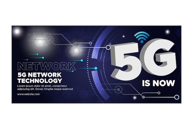 Bannière de technologie 5g