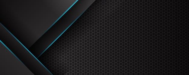 Bannière de technologie futuriste abstraite lumière bleue