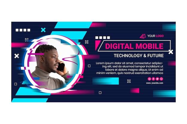 Bannière de technologie mobile