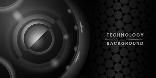 Bannière de la technologie noire