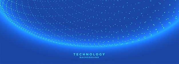 Bannière de technologie de réseau de connexion de particules numériques