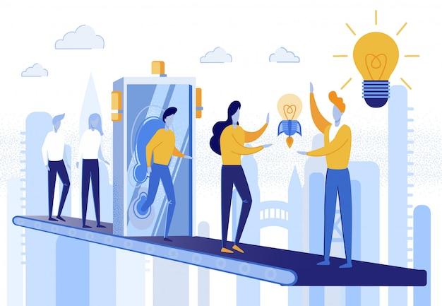 Bannière technologies modernes et idées créatives.