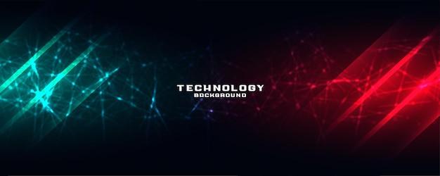 Bannière technologique avec maillage réseau