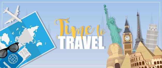 Bannière de temps de voyage