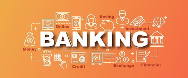 Bannière de tendance bancaire vecteur