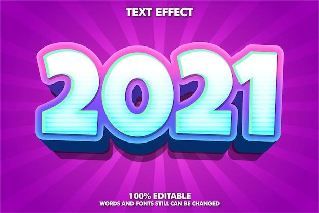 Bannière tendance du nouvel an, effet de texte modifiable