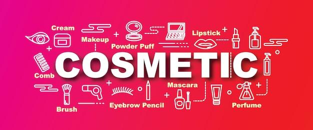 Bannière tendance de vecteur cosmétique