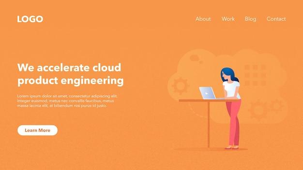 Bannière d'en-tête web pour le site web du système