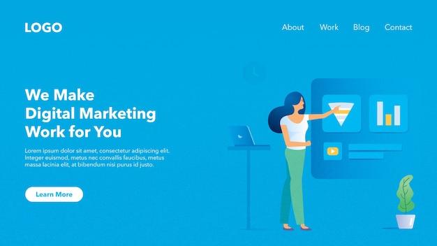 Bannière d'en-tête web pour le site web marketing