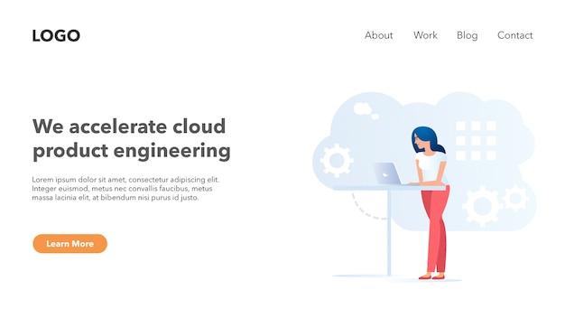 Bannière d'en-tête web pour le thème léger du site web du système