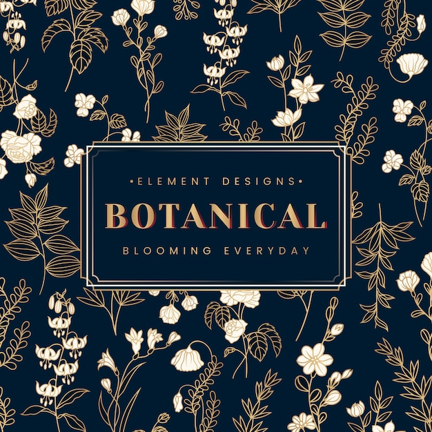 Bannière de texte botanique