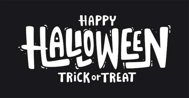 Bannière de texte halloween heureux.