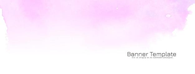 Bannière de texture aquarelle rose abstraite