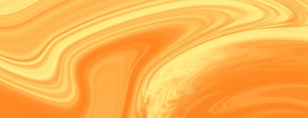 Bannière de texture de marbre liquide jaune vif