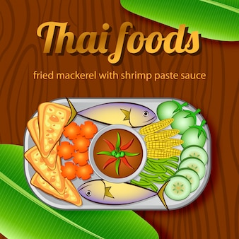 Bannière thai food massaman et phad thai