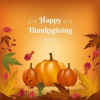Bannière de thanksgiving réaliste