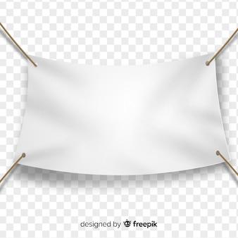 Bannière en tissu blanc