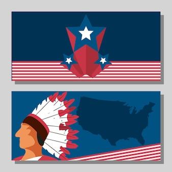 Bannière traditionnelle américaine