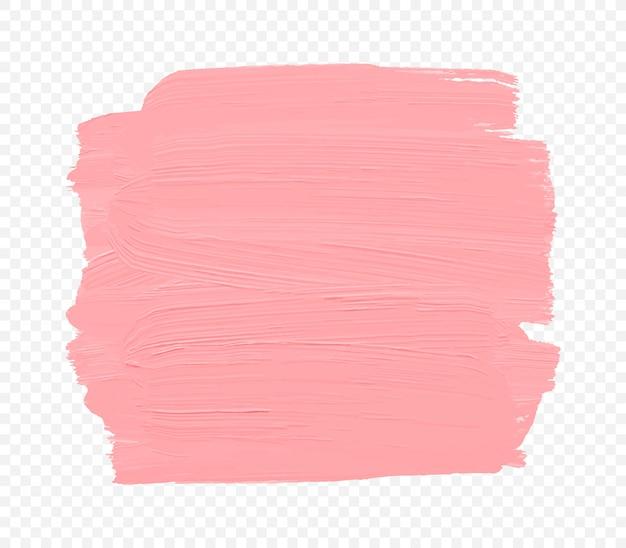 Bannière de trait de peinture rose abstraite