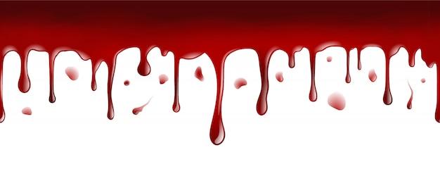 Bannière transparente de sang dégoulinant