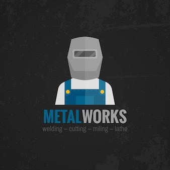 Bannière de travail des métaux à plat