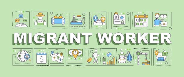 Bannière de travailleur migrant