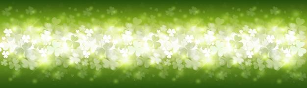 Bannière de trèfles lumineux