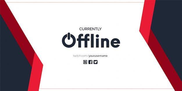 Bannière twitch actuellement hors ligne