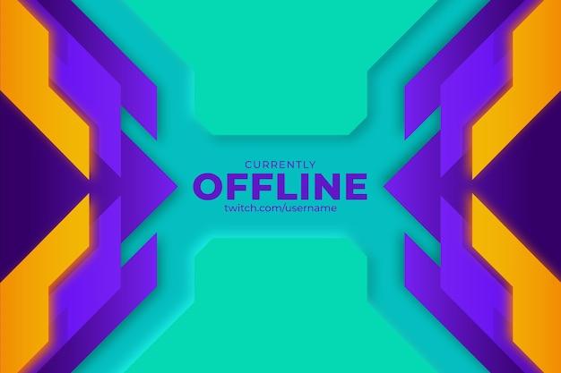 Bannière de twitch hors ligne abstraite