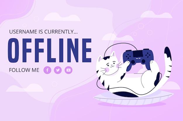 Bannière de twitch hors ligne mignon